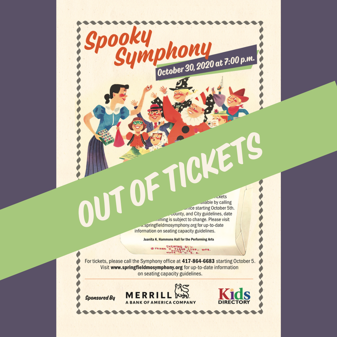 Spooky Symphony - Out of Tickets Graphic